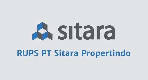 RUPS PT Sitara Propertindo